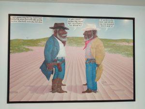 Salah satu koleksi lukisan Museum Macan di lantai 6