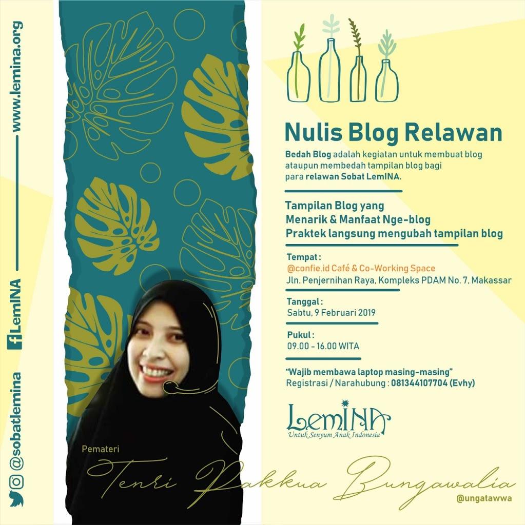 Bedah Blog Sobat LemINA: Tips Membuat Blog bagi Pemula by ungatawwa.com
