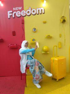 Tips menjadi Influencer dari Bella Amira dan Tumming Abu dalam acara #NgabuburitKuat IM3 Ooredoo Travel and Food Blogger by Evhy Kamaluddin