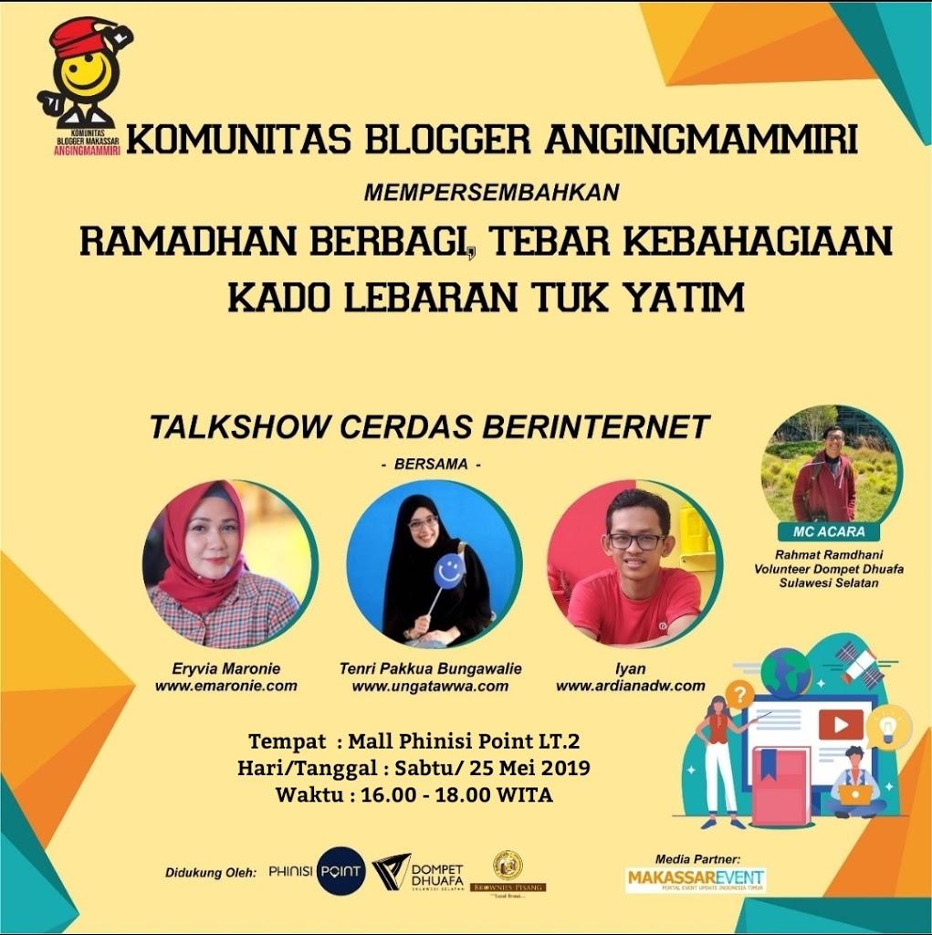 Blogger AngingMammiri Berbagi dan Hadiah UMROH, diundi Akhir Juni 2019