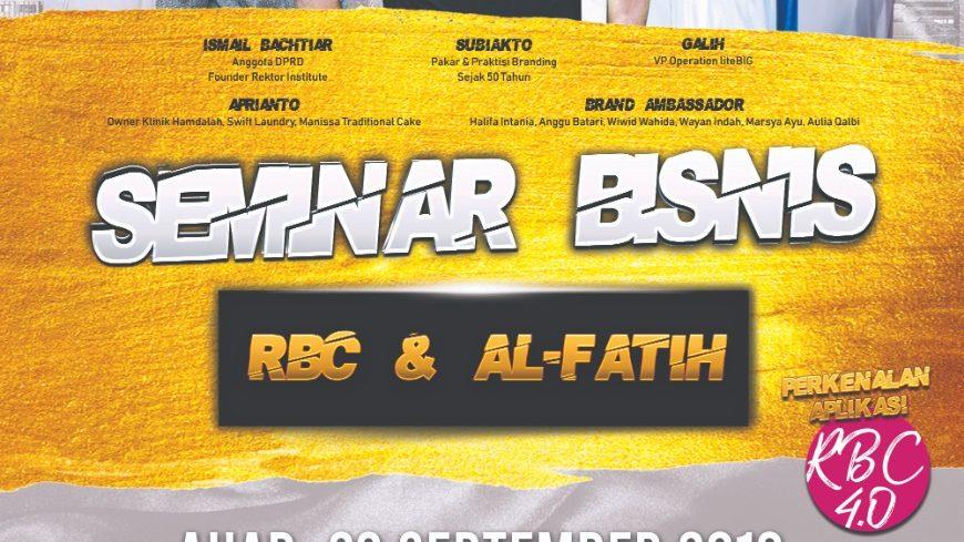 Tips Sukses Berbisnis di Era Digital Dari Seminar Bisnis RBC & AL-FATIH