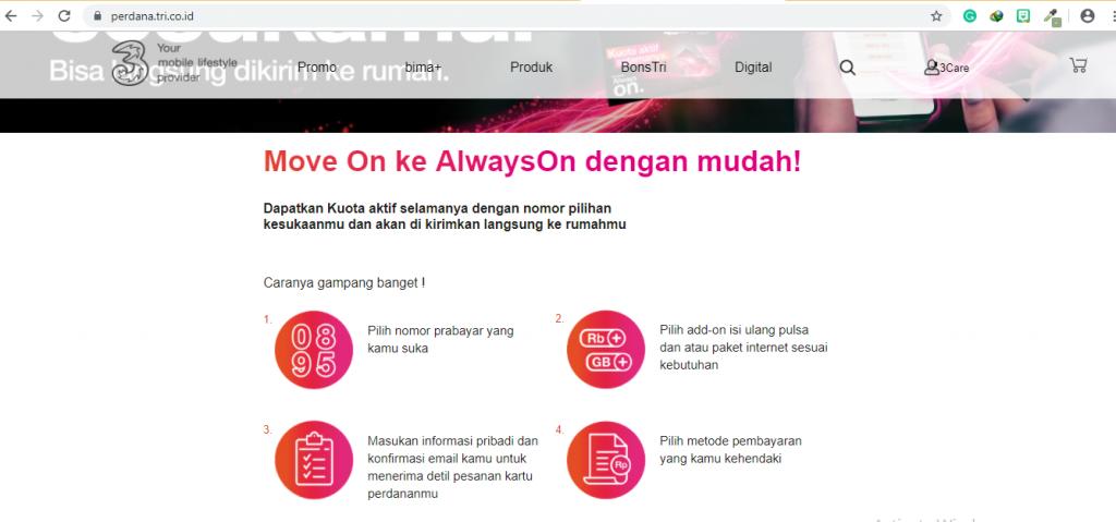 Kartu Perdana AlwaysOn Tanpa Khawatir Kuota Hangus Travel and Food Blogger by Evhy Kamaluddin