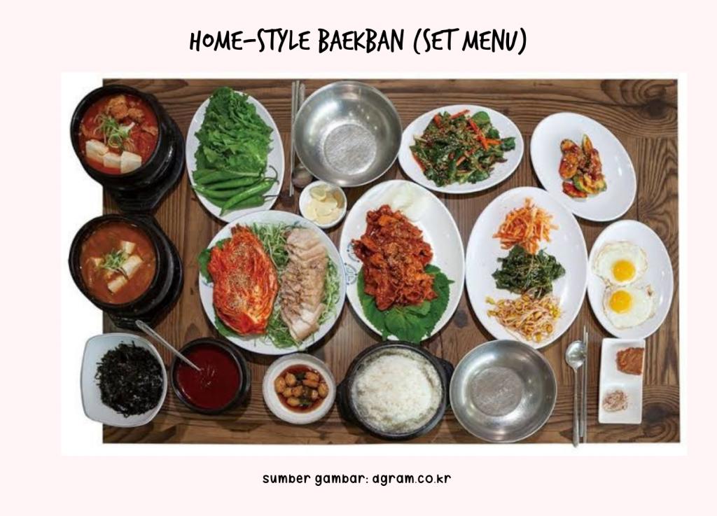 Home-style Baekban (Set menu) - Makanan khas musim semi